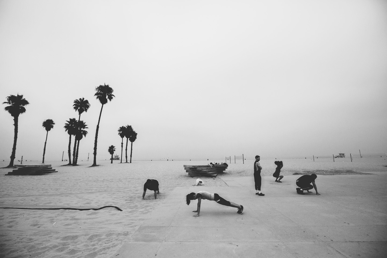 Venice beach in the morning